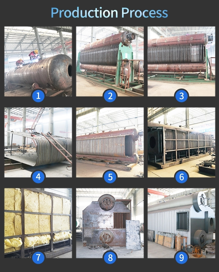 15 ton SZS Series Double Drum Oil and Gas Fired Steam Boiler for Textile MillGarment Factory