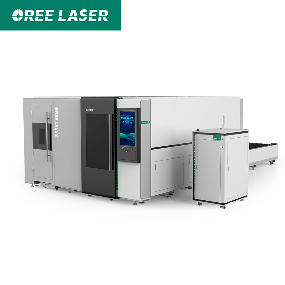 Metal round square pipe tube fiber laser cutting machine for machinery construction and other