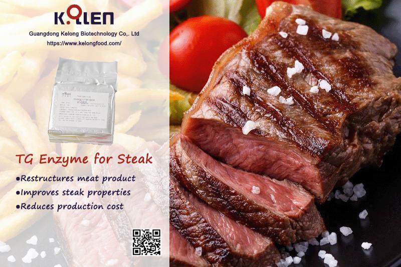 Transglutaminase for Restructure Steak
