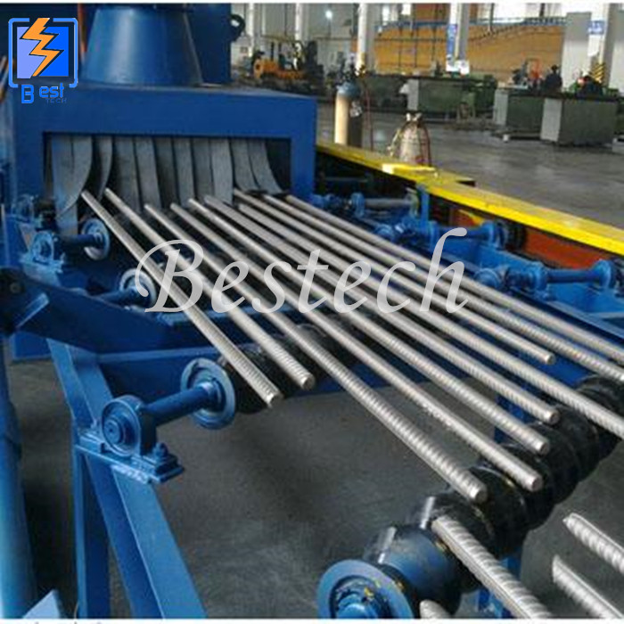 Steel Structure Roller Conveyor Shot Blasting Machine