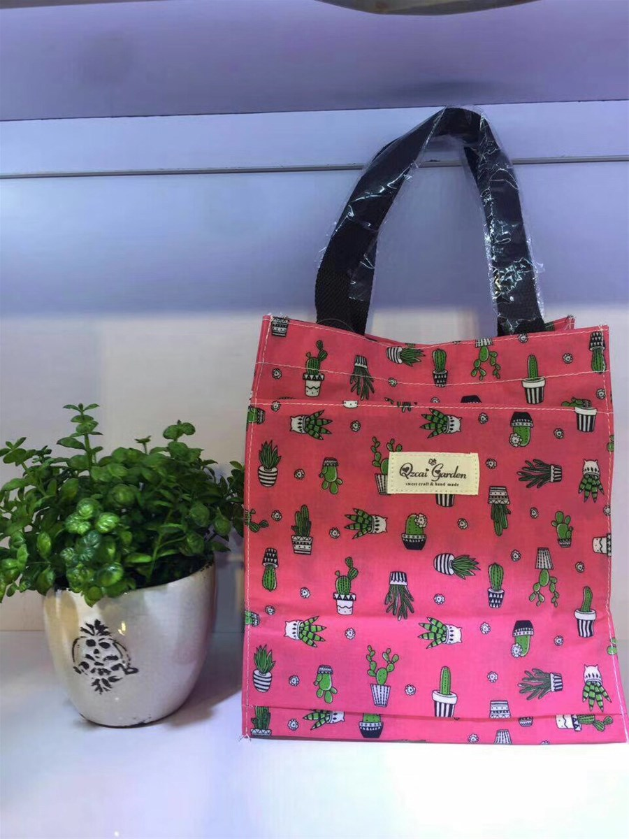 Oxford shopping tote bag wholesale portable reusable lunch bag High density In sulated polyster Handle delivery bag