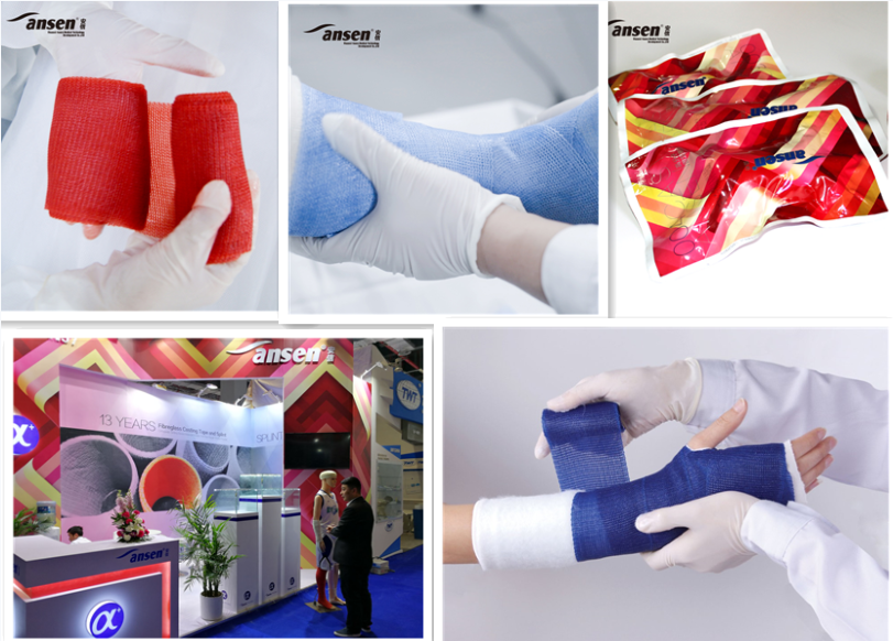 AnsenCast Synthetic Casting Tape Polyester Orthopaedic Waterproof Synthetic Bandage