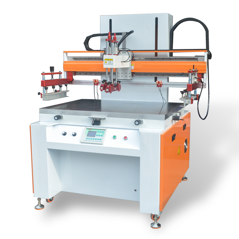 silk screen printing glass machineCW6090G SemiAutomatic flat Screen printing press for plastics