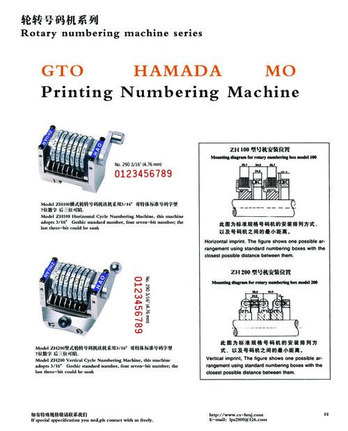OFFSET PRINTING numbering machine