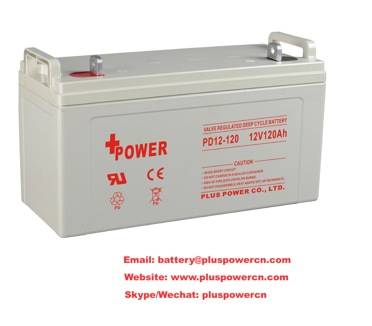 12V120AH UPS Batteries with Sealed Rechargeable