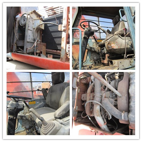 Used HITACHI EX100WD 10ton wheel excavator on sale