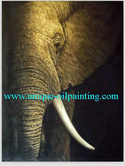 elephant oil painting oil painting