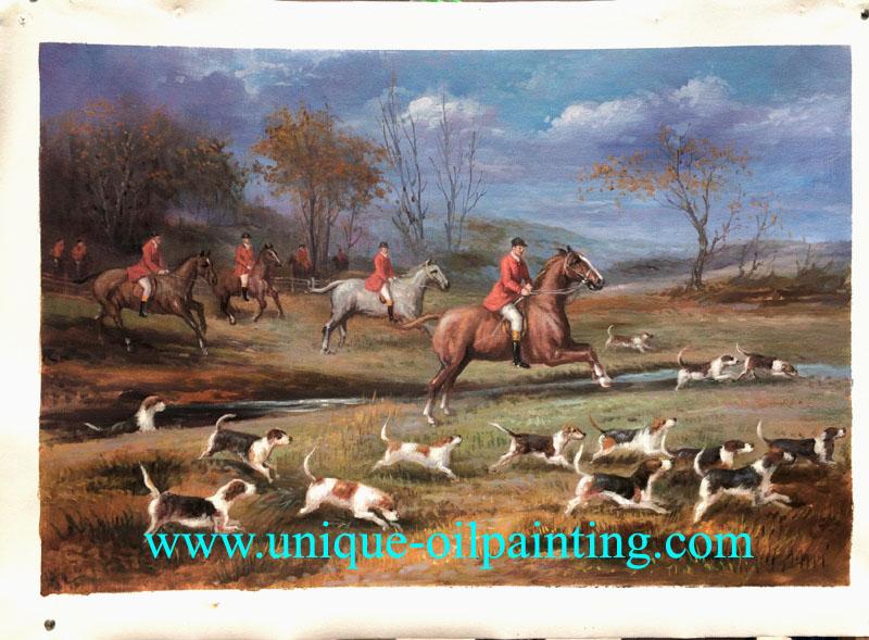 oil painting hunting oil painting oil painting reproduction