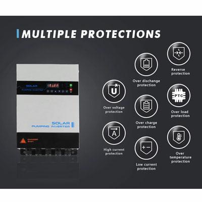7500W three Phase Solar Pump Inverter with MPPT Max DC input 800V 75KW solar domestik water supply system