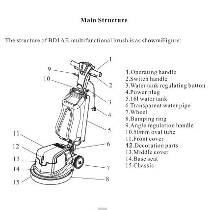 154rpm MultiFunctional Floor Cleaning Machine Floor Cleaner