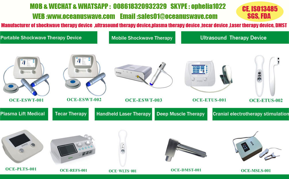 ESWT Physiotherapy shockwave equipment electromagnetic medical painrelief ed therapy shockwave