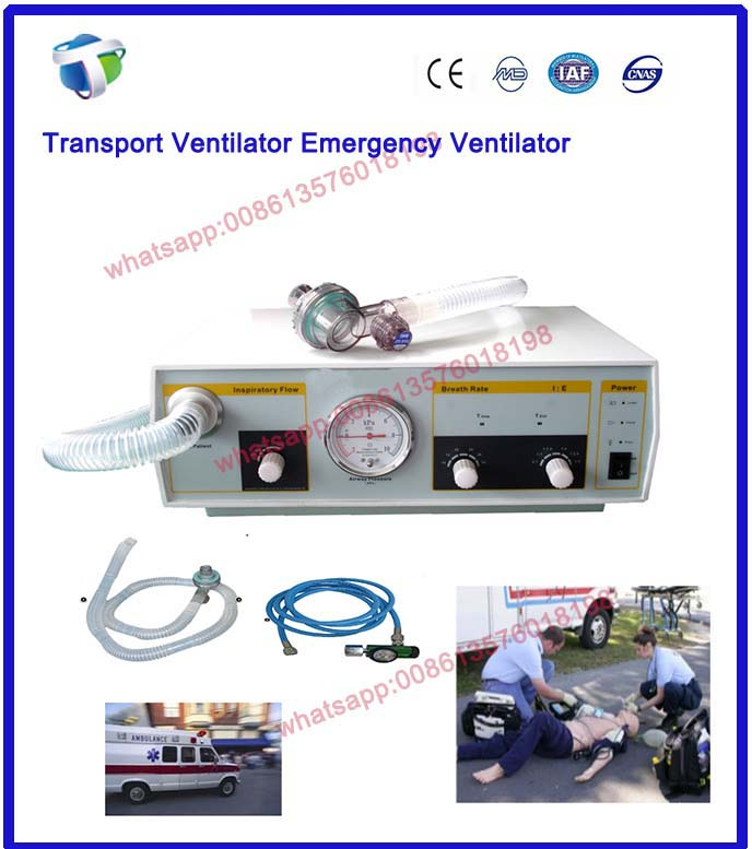 Lowest Price Emergency and Transport Ventilator for FirstAid and Ambulances