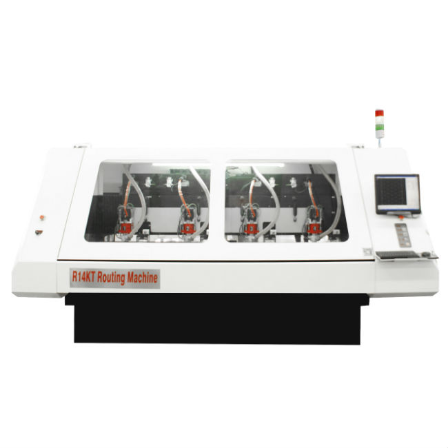 High Speed CNC Router SingleDouble Side 4Spindles PCB Routing Machine