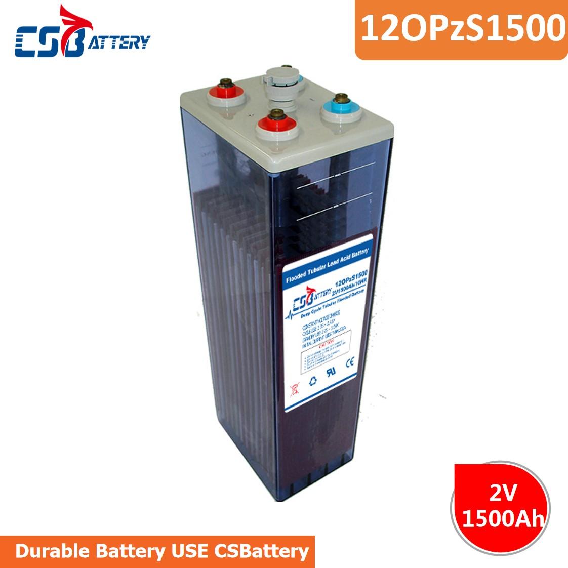 Csbattery 2V1500ah Tubular Opzs Battery for TelecomeUPSRailwaySecurityMedicalAlarmCableTVAppliation