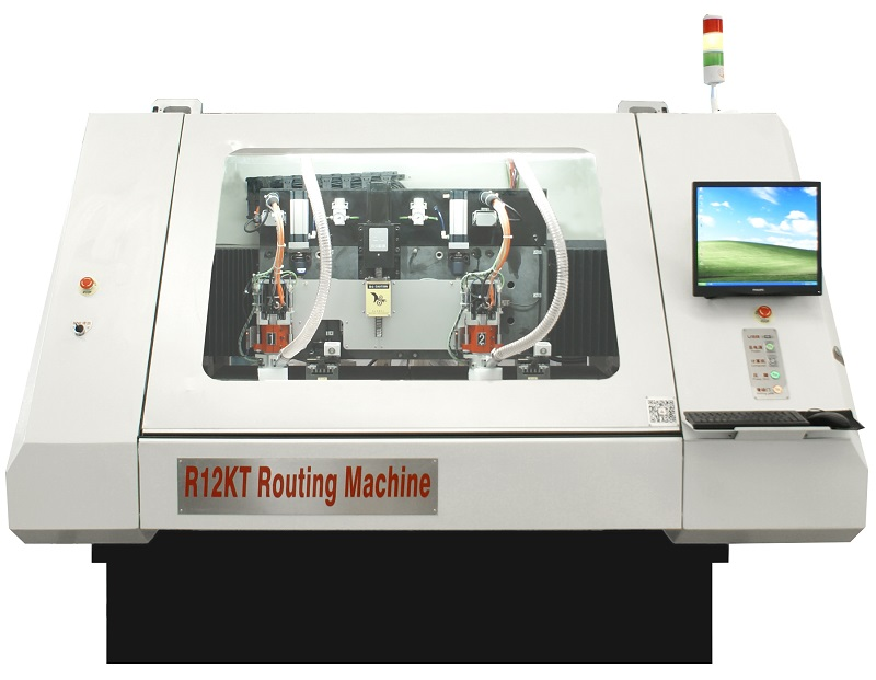 PCB SingleDouble Side 2Spindles 60K rpm Speed CNC Routing Machine