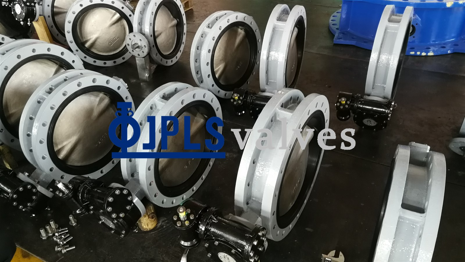 Gear Operated Ductile Iron Utype Flanged Marine Butterfly Valve