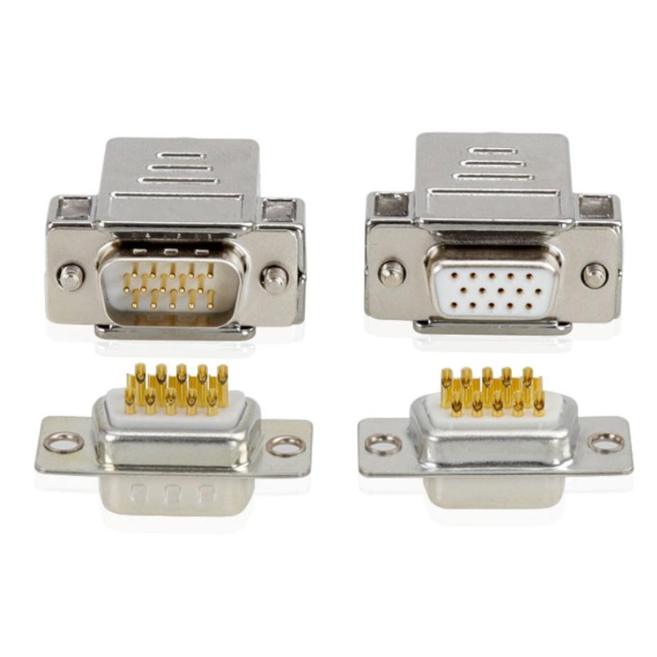 DSub 9 WayPin backshells vga connector housing 9 pin 15 pin vga adapter cable assembly connector