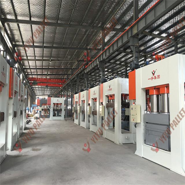 press machine for compress wood pallet from Qingdao yiyu