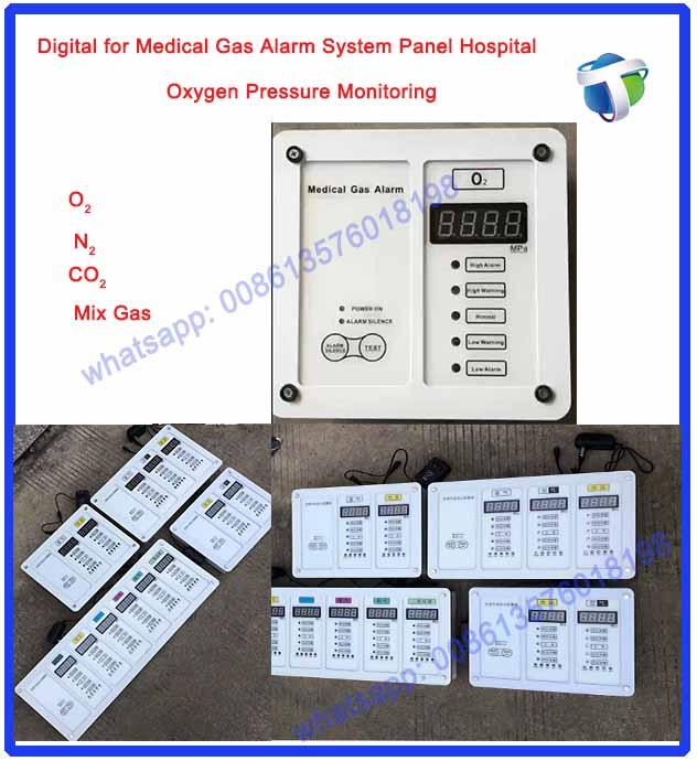 Digital for Medical Gas Alarm System Panel Hospital oxygen pressure Monitoring