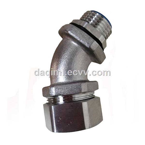 45 degree flexible conduit fittings stainless steel liquid tight connectors