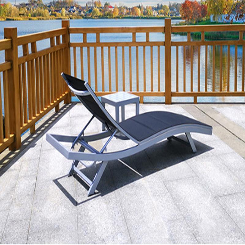 Beach chair high grade summer outdoor leisure bed garden swimming pool Teslin mesh waterproof deck chair