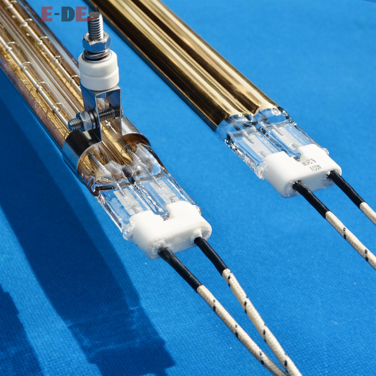 Short Wave Twin Tube Infrared Radiator Emitters For Industry Heat Process