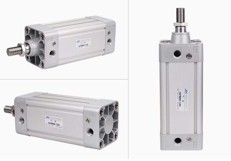 triple rod pneumatic compact guide air cylinder with magnet