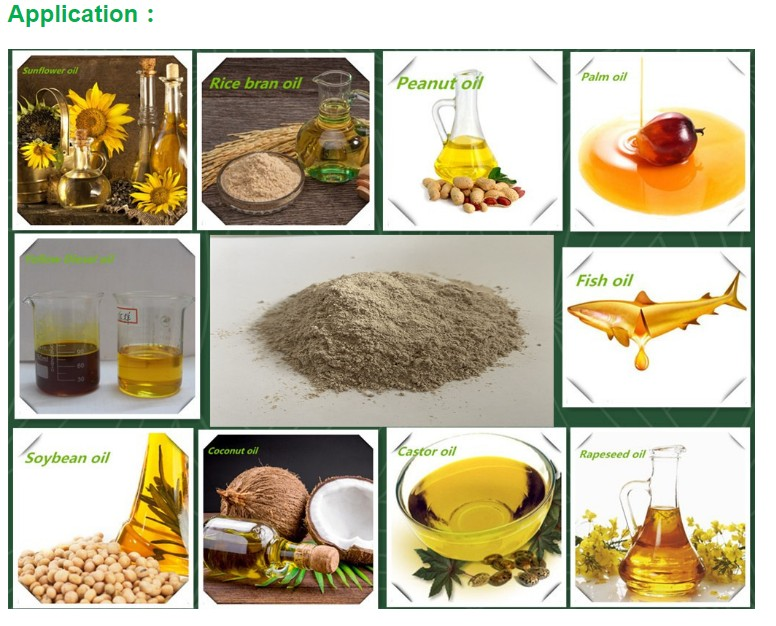 Tonsils bentonite bleaching earth clay powder for oil refining decoloring purification