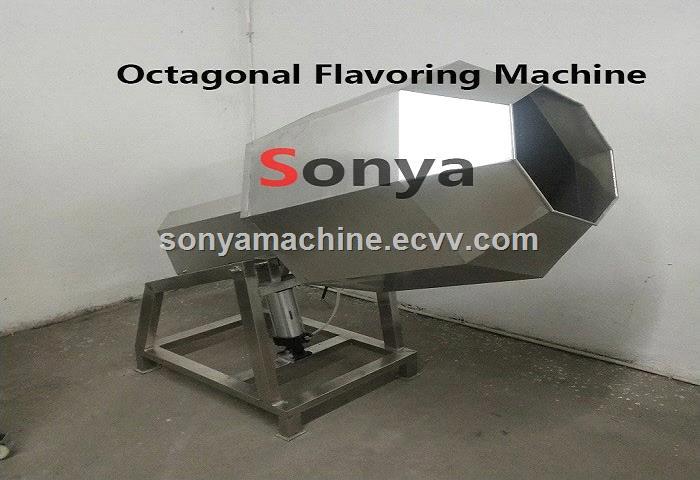 French Fries Seasoning MachineOctagonal Chips Flavoring Machine