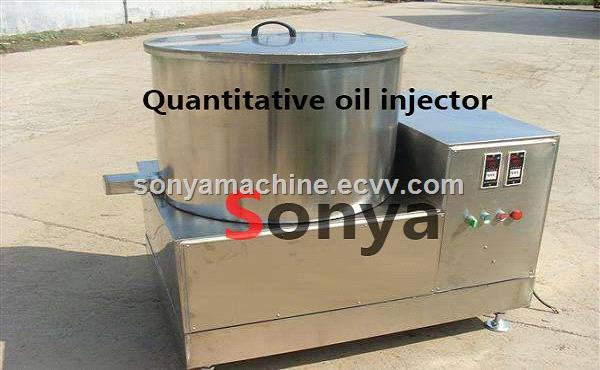 Quantitative oil injectorChocolate spray machineSnack food seasoning machine
