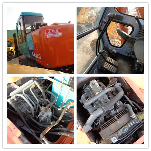 Used HITACHI EX120 crawler excavator on sale