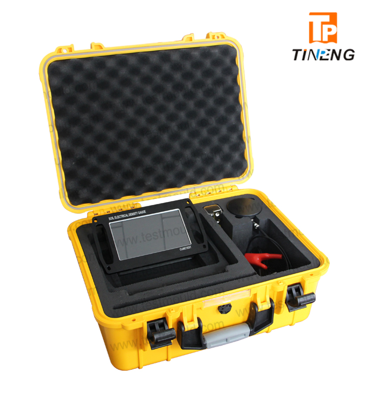 Portable automatic soil nonnuclear Electrical Density Gauge EDG for soil testing