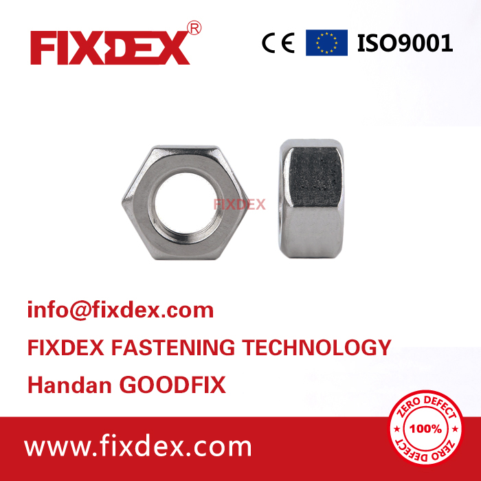 China factory and good Price DIN934 Galvanized Iron carbon steel Hex Nut M4 M6