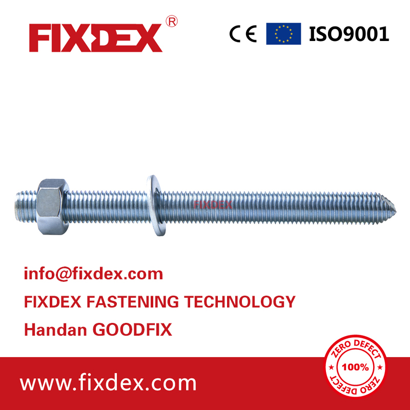 High quality Galvanized Steel M8M30 Chemical Anchor Bolts