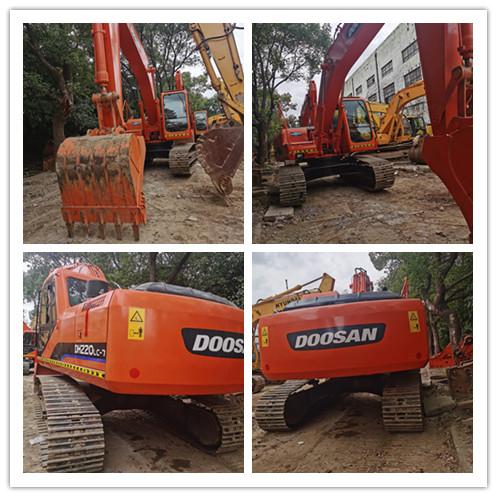 Used DOOSAN DH220LC7 crawler excavator on sale