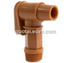 34 BSP Thread Polyethylene Barrel Faucet Gold Drum Tap Plastic Spigot