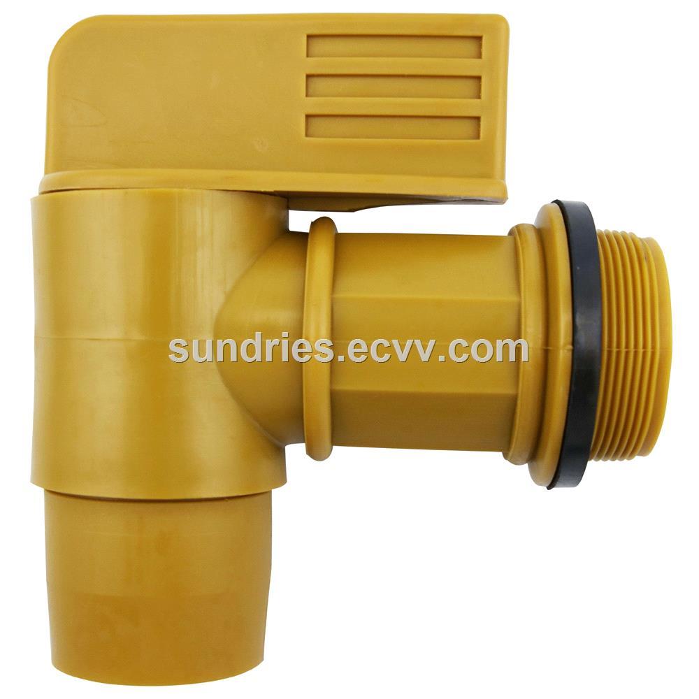 Drum Tap 2 Polyethylene Plastic Barrel Tap Lever Type Drum Faucet With EPDM Gaskets