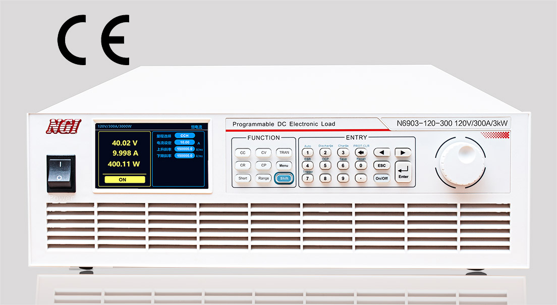 N6900 Single Channel Programmable DC Electronic Load 3000W120V300A with 43 inch LCD