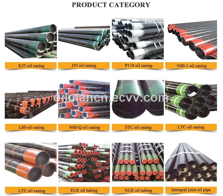 API 5CT Oilfield Seamless Tubing and Casing Pipes In K55 J55 N80 L80 P110