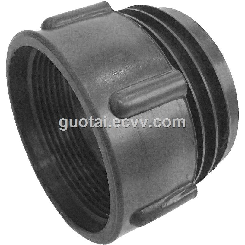 IBC Tote Tank AdapterFitting Connector 63mm Male to 2 BSP Female PP Plastic Drum Coupling