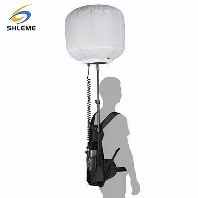 Outdoor camping or fishing use portable mobile LED inflatable balloon light tower
