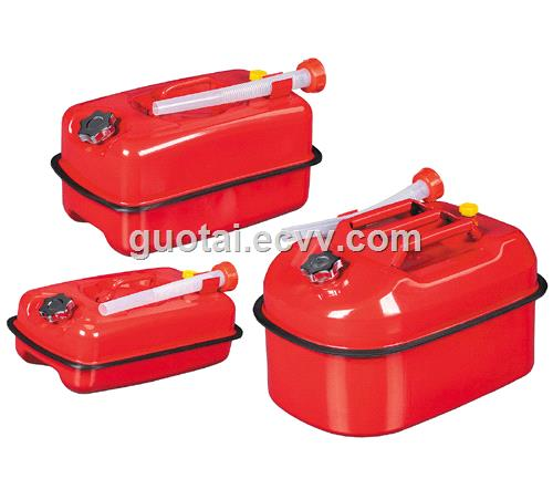 Horizontal Metal Jerry Gerry Can Gas Fuel Steel Tank with Flexible Spout Amazon Ebay Hot Selling