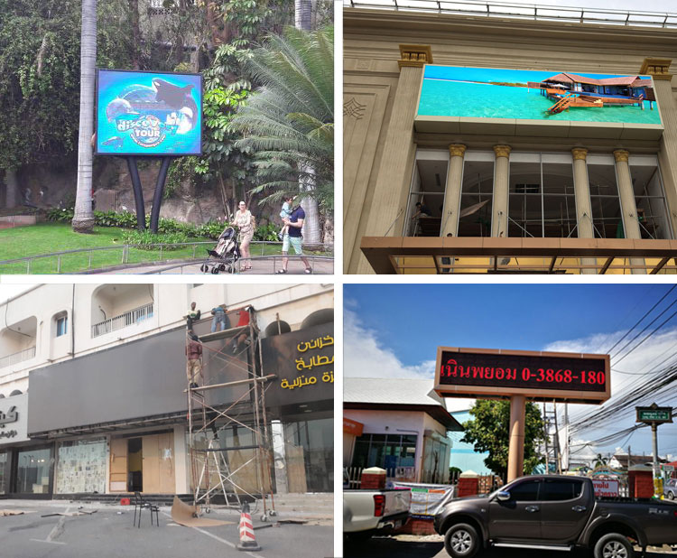 Cases of P4 Outdoor LED Display Screen