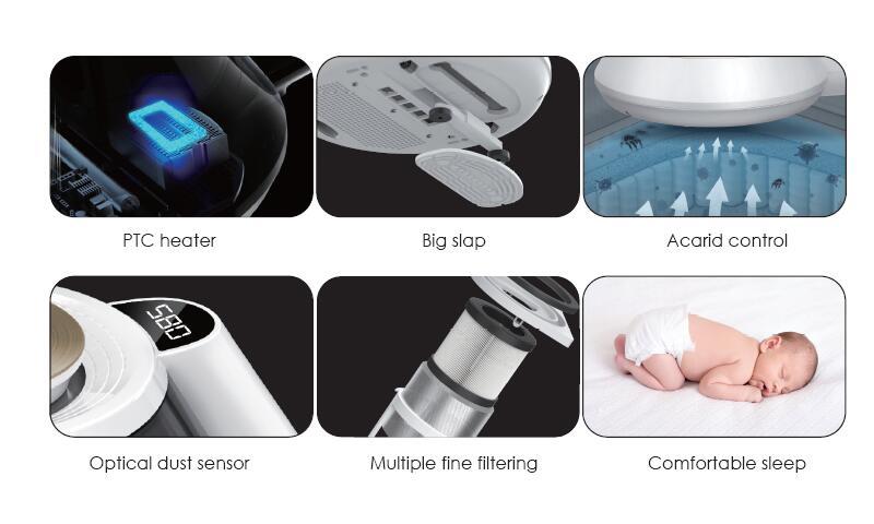 Intelligent acarid cleanerSuction Anti winding Hair UV Light Sterilization Vacuum Cleaner Dust Mites Vacuum Cleaner