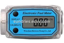 Manual Fuel Oil Diesel Kerosene Gasoline Nozzle BSPTNPT 1 Aluminum Fueling Gun with Digital Flow Meter