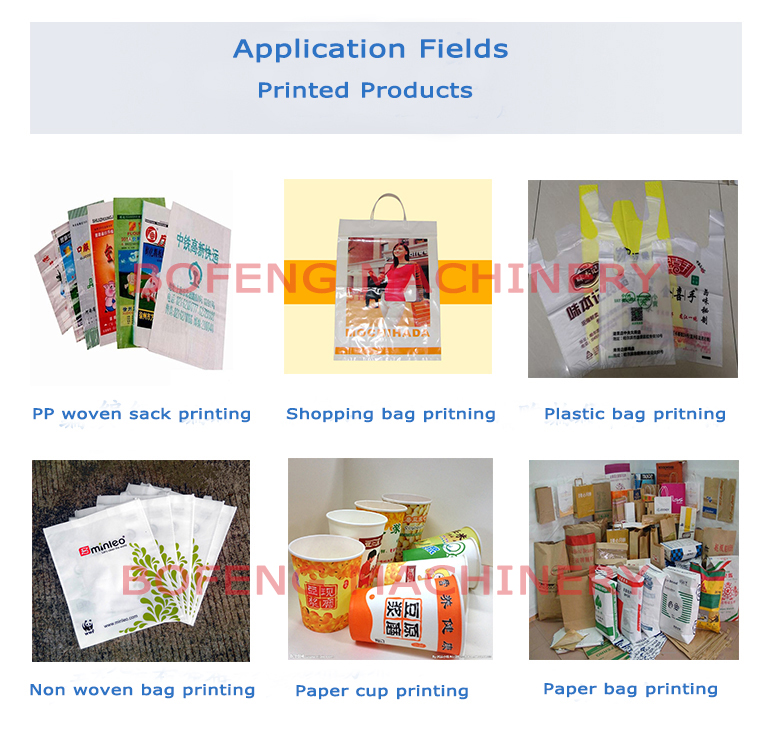 4 Color High Speed Roll to Roll HDPEPE Plastic Bag FlexoFlexographic Printing Machine