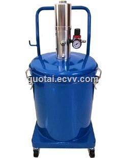 20 Liter Air Operated Grease Bucket Pump 20L Wheeled High Pressure Pneumatic Lubricator Machine
