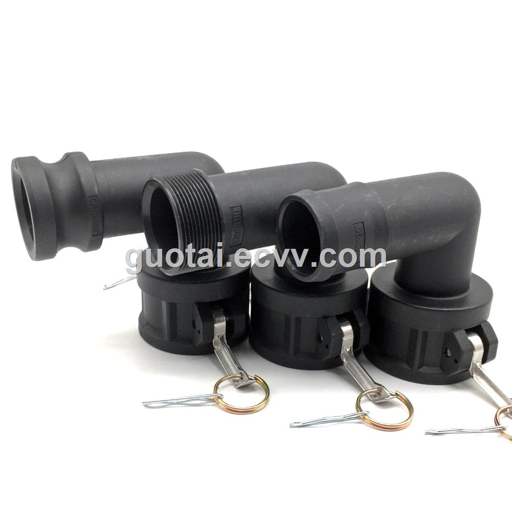 IBC Camlock Quick Coupling 2DN50 90 Degree Angle PP IBC Tote Tank Valve Fitting Adapter