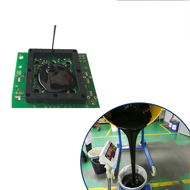 Black Color PCB Electronic Potting thermal conductive Silicone rubber