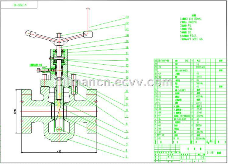 API 6A Wellhead Equipment 200015000psi Mud Expanding Gate valve for Kill Manifold Choke Manifold